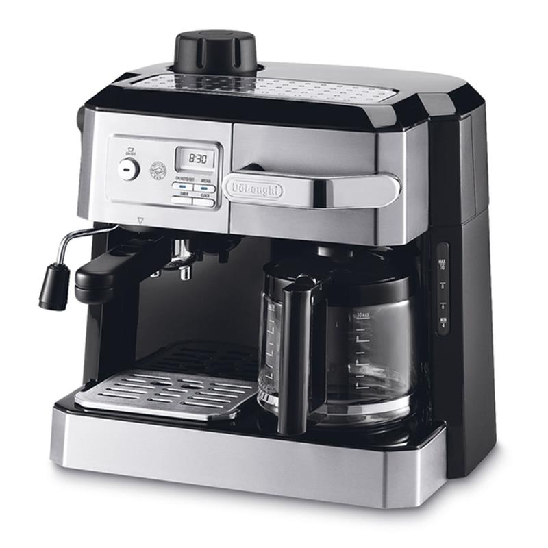 Combination Espresso & Drip Coffee with Programmable Timer